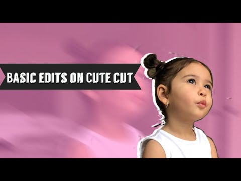 How to make edits on Cute cut for beginners💞