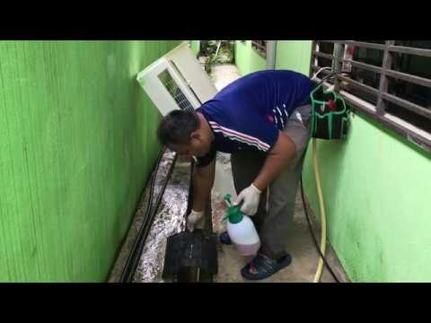 Aircond York split unit chemical cleaning service part 2