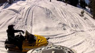 Snowmobiling Iron Mountain, California Amador County Sierra Nevadas - Part 8