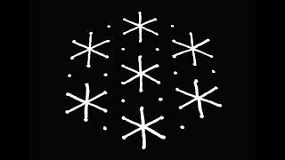 Easy Rangoli Design with 9X5 Dots | Simple Kolam Designs | Easy Kolam Designs | Muggulu Designs