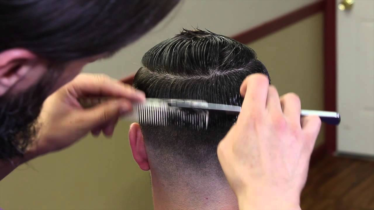 Cut a bob hairstyle with razor comb haircut