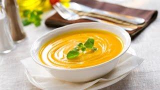 Как приготовить Крем-суп из Тыквы. Видео рецепт.(Крем-суп из Тыквы - это просто. Видео рецепт. Для приготовления Вам понадобится: 1. Тыква -1/2шт.(500г.) 2. Вода..., 2015-12-31T20:37:14.000Z)