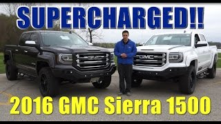 supercharged 2016 custom gmc sierra slt g2 over 630 hp hear the supercharger