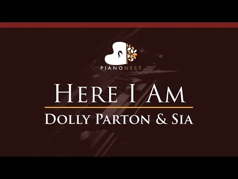 Dolly Parton & Sia - Here I Am - HIGHER Key (Piano Karaoke / Sing Along)
