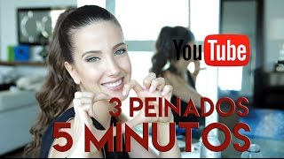 3 Peinados en 5 minutos! | Peace and Vogue