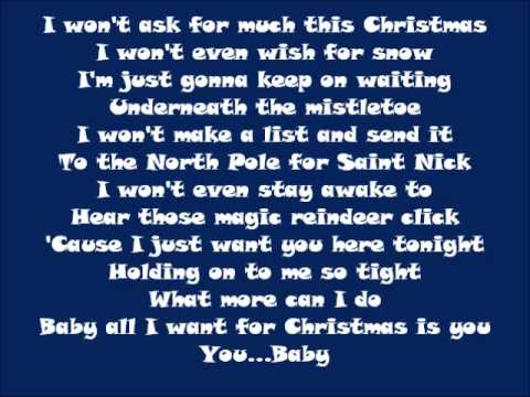 All I Want For Christmas Is You ... - study-lyrics.com