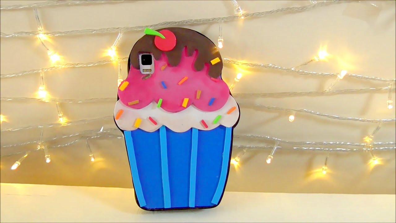 Manualidades faciles: forro de celular o movil en forma de cupcake ...
