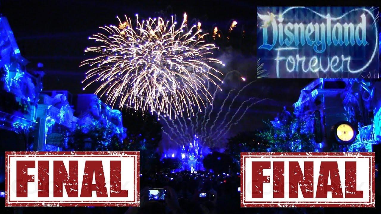Final Ever Disneyland Forever Fireworks [INCREDIBLE 60 Frames 1080P ...