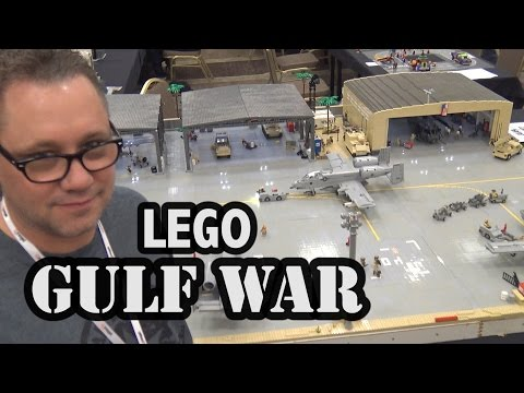 LEGO Gulf War A-10 Warthog Airbase in Saudi Arabia | World War Brick 2017