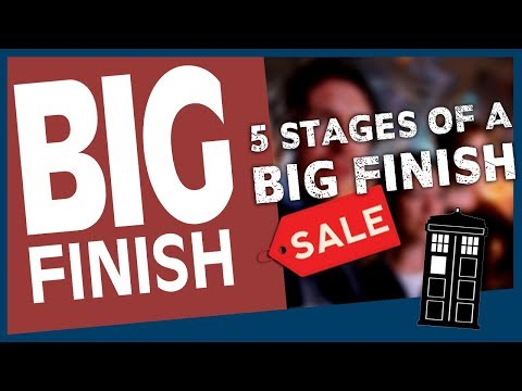The 5 stages of finding out there is a Big Finish Sale  │Doctor Who
