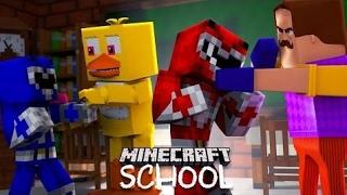Minecraft School - POWER RANGERS, BOSS BABY, HELLO NEIGHBOUR, FNAF FIGHT! #2