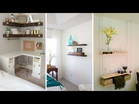 💗 5 Creative Hanging Shelving Idea for Small Bedroom 💗