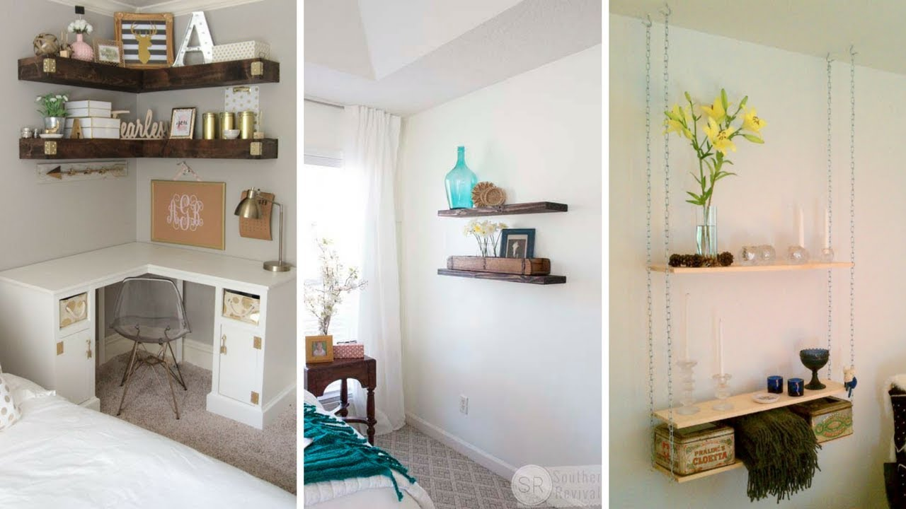 5 Creative Hanging Shelving Idea For Small Bedroom Youtube