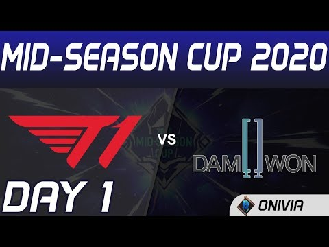 T1 Vs DWG Highlights Day 1 Mid Season Cup 2020 T1 Vs Damwon Gaming By Onivia