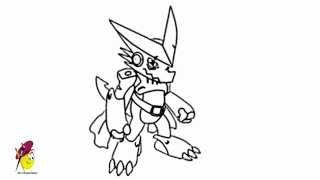 Shoutmon - how to draw Shoutmon from Digimon Fusion