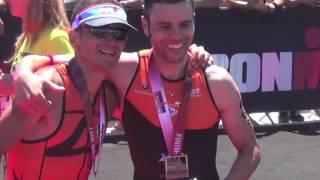 Alcuni flash alle fasi finali della gara dell'Ironman 70.3 di Pesca...