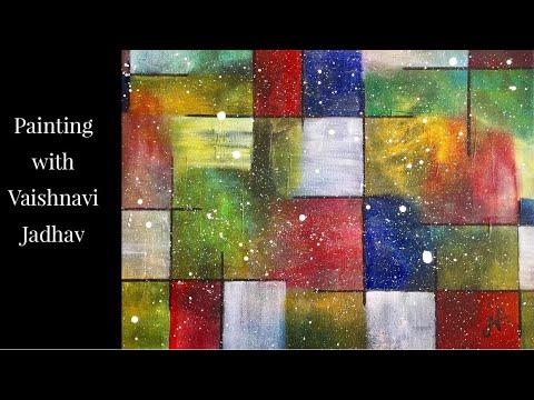 Abstract  Painting Modern Art By Vaishnavi Jadhav