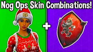 10 BEST 'NOG OPS' SKIN COMBINATIONS in Fortnite! (New Christmas Skin Combos)