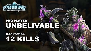 UNBELIVABLE Terminus 12 KILLS!! Paladins Pro (Fnatic) Ranked Gameplay 1440p High Quality Video
