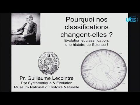 Les Rendez-vous d'Histoire Naturelle : Evolution et classification, une histoire de Science !