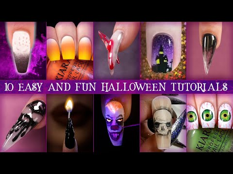 🎃10 Easy and Fun Halloween Nail Tutorials for 2019! 👻DIY Nail Inspo Ideas 🕯 thumbnail
