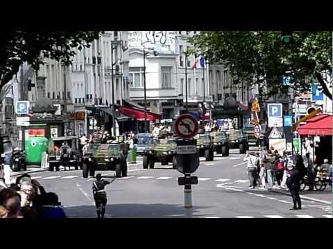 Paris Bastille - fin du défilé militaire 14 juillet 2012