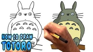 How to Draw Totoro from My Neighbor Totoro (NARRATED)