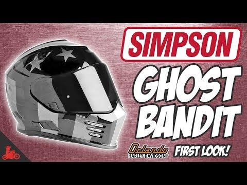 Simpson Ghost Bandit Motorcycle Helmet! - First Look