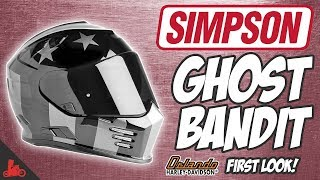 Simpson Ghost Bandit Motorcycle Helmet! - First Look