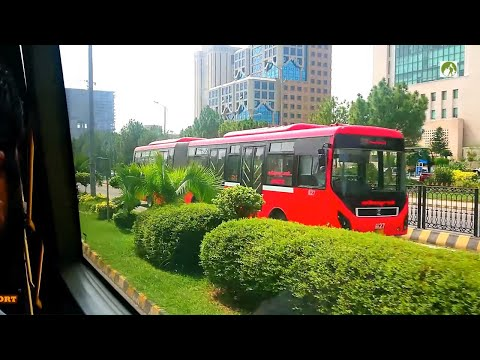 Rawalpindi To Islamabad Metro Bus City Tour In 30 Rupees Traveling BRTS Pakistan 2019