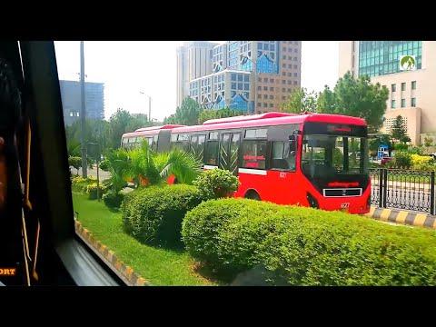 Rawalpindi To Islamabad Metro Bus City Tour In 30 Rupees Traveling BRTS Pakistan 2019