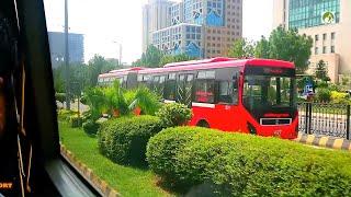 Rawalpindi To Islamabad Metro Bus City Tour In 30 Rupees Traveling BRTS Pakistan 2019 Video