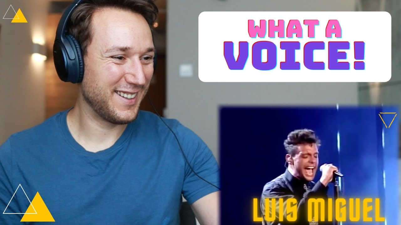 Luis Miguel la incondicional first time reaction - Actor and Vocal coach. Wooow! He's amazing!