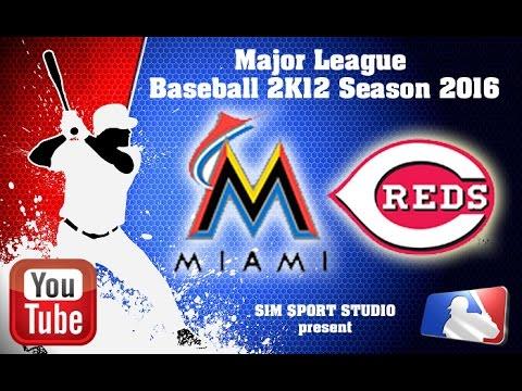 Miami Marlins -Cincinnati Reds. MLB2K12