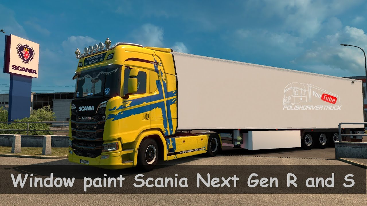 Ets2 v1 30 pdt window paint scania next gen r and s