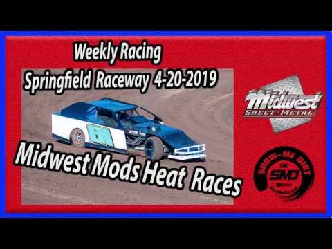S03 E179 Midwest Mods Heat Races - Weekly Racing Springfield Raceway - 4-20-2019 #DirtTrackRacing
