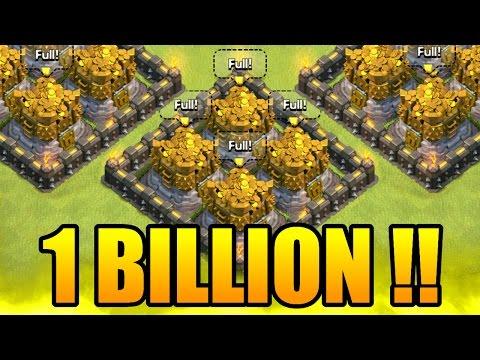 Clash Of Clans - OMG! 1 BILLION GOLD! - NEW RECORD DARK ELIXIR RAID!