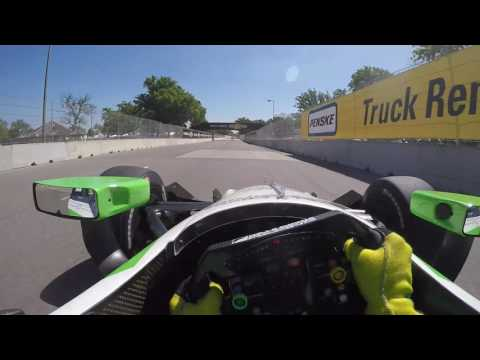 2016 INDYCAR Visor Cam with Conor Daly at Belle Isle