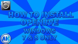 OpenBVE: How to install tutorial + GAMEPLAY