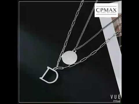 CPMAX 雙層鈦鋼不掉色項鏈 時尚歐美潮項鍊 街頭金屬酷時尚 男項鍊 女項鏈 項鍊 情侶項鍊 鈦鋼項鍊【G29】