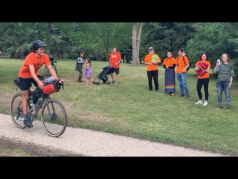20-year-old cycles 3,000 km to every residential school in Saskatchewan
