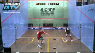Squash : So You Think You Can Ref ? : Gaultier v Ghosal - Turning & Hitting Opponent