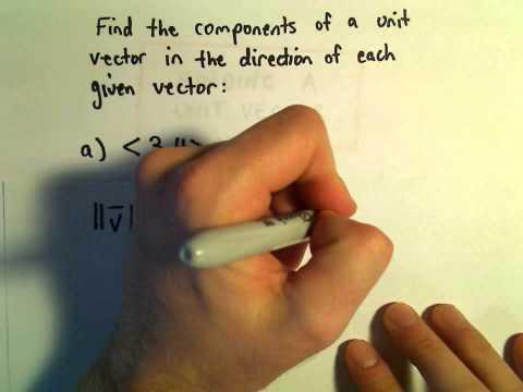 Finding a Unit Vector, Ex 1