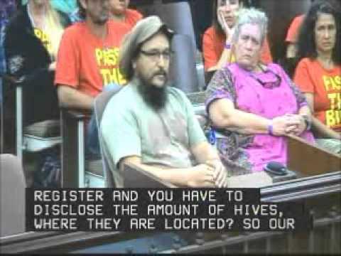 James Trujillo Beekeeper Testifies Kauai County Council Sept  27,2013