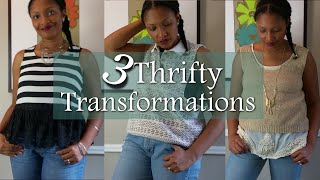 3 Thrifted Transformations | Refashion | Remake Old Clothes | Blueprint DIY