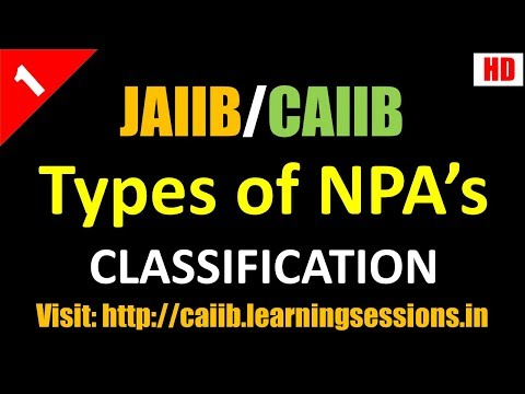 Non Performing Assets Classification Provisioning and important Concepts JAIIB CAIIB