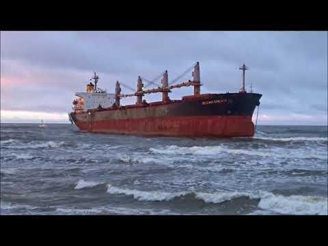"""Bulk Carrier """"OCEAN CROWN"""" is aground."""