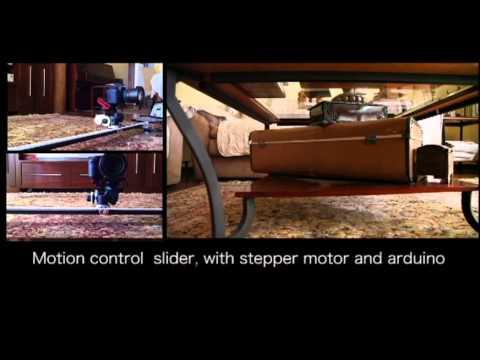 My home made camera slider stepper motor with arduino for Stepper motor camera slider