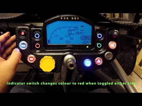 Skunkwurx RaceDash For Ariel Atom - Carbon Fiber Digital Dash With LED Lights
