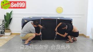 【Qoo10 @ Sell99 】Universal elastic Sofa Cover Installation